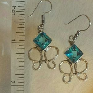 Blue Topaz with Special Cut Stones in Sterling